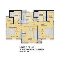 Assisted Living Floor Plan - 2 beds 2 baths