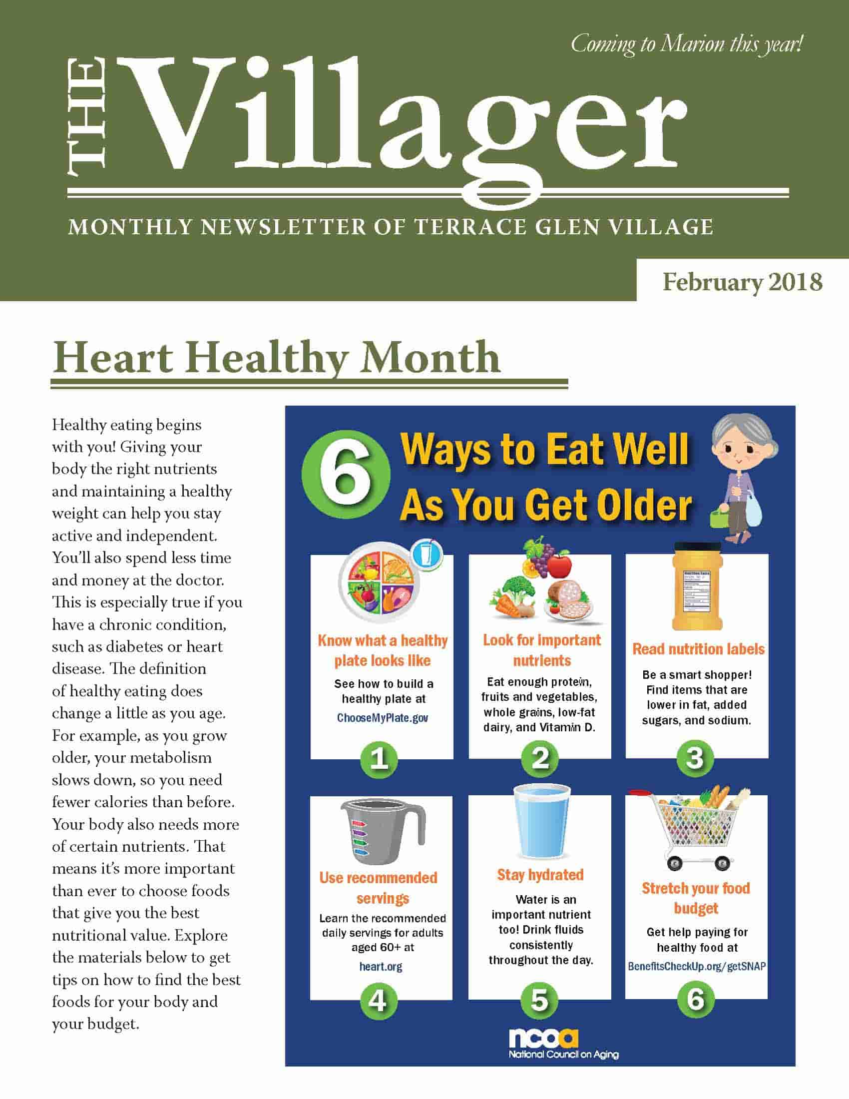 February Newsletter (Page 1)